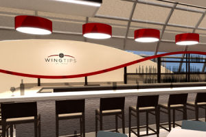 Bar at Wingtips Lounge